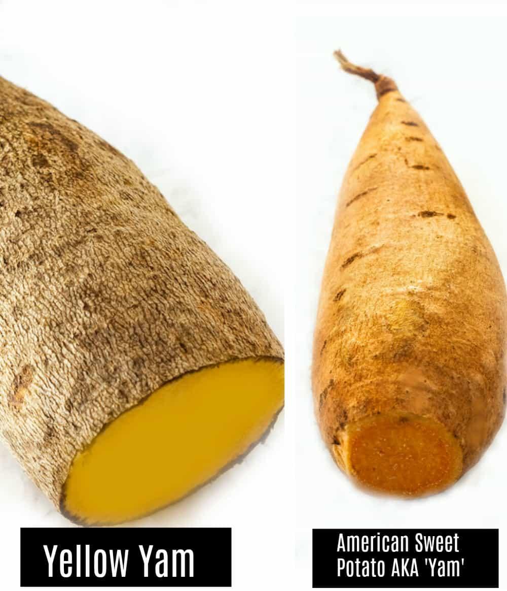 Yellow Yam photo and sweet potato