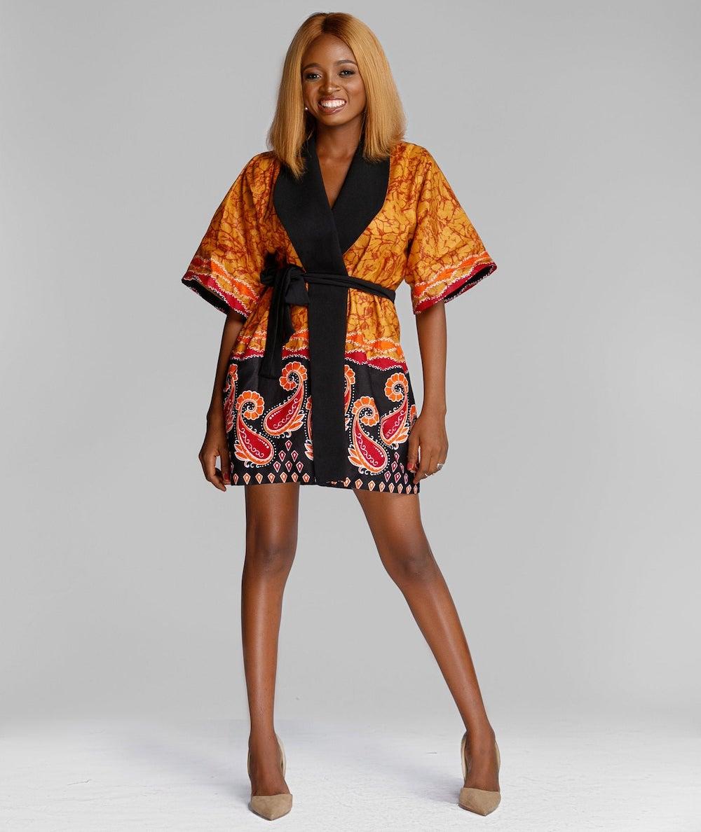 Fola Ankara Kimono by Boriah Clothiers