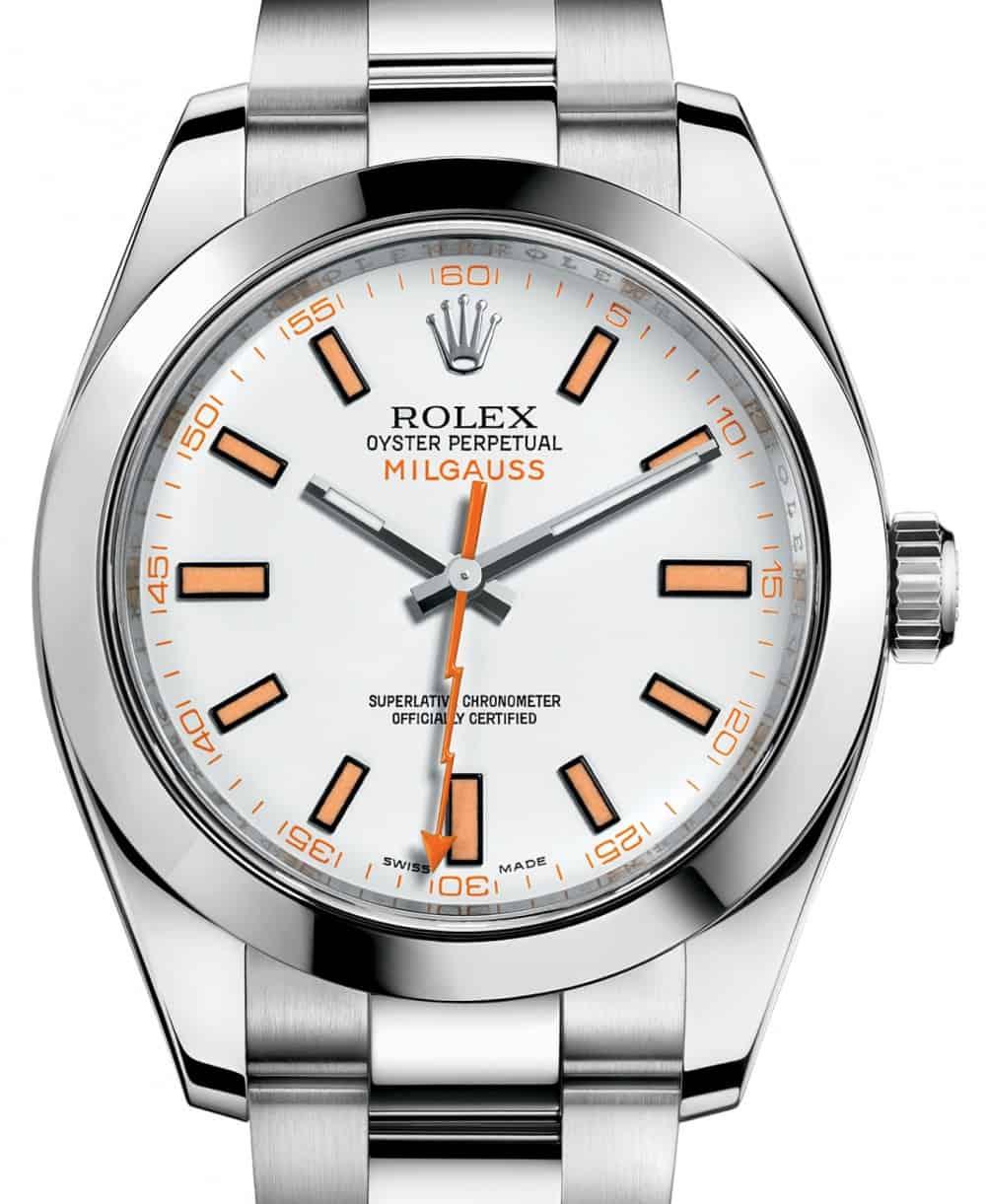 rolex-milgauss-116400-white-index-116400wo-orange-stainless-steel-1-front