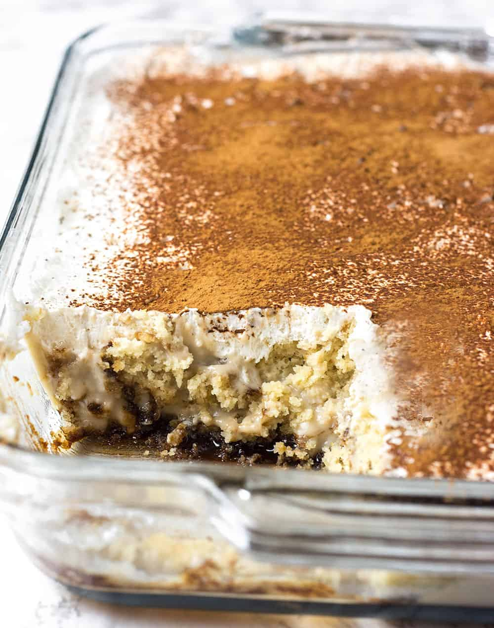 Tiramisu Cake Layering in Pan