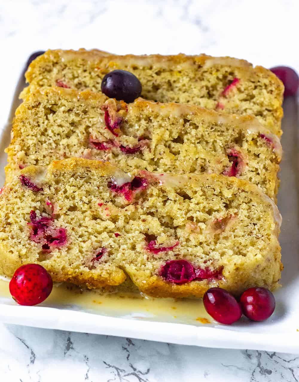 Vegan Cranberry Orange Bread
