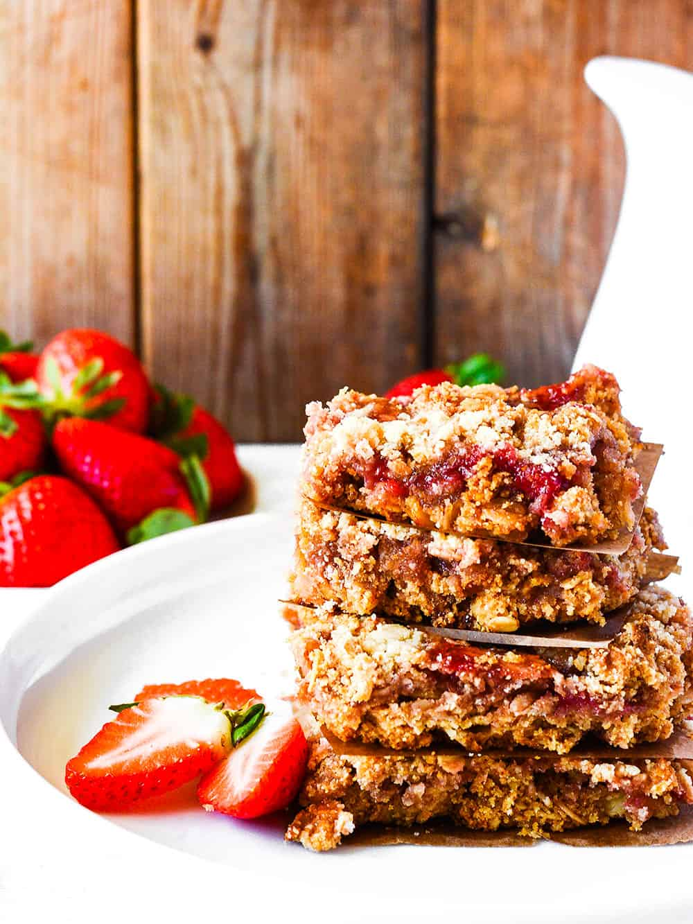 Gluten-Free Vegan Strawberry Oat Bars