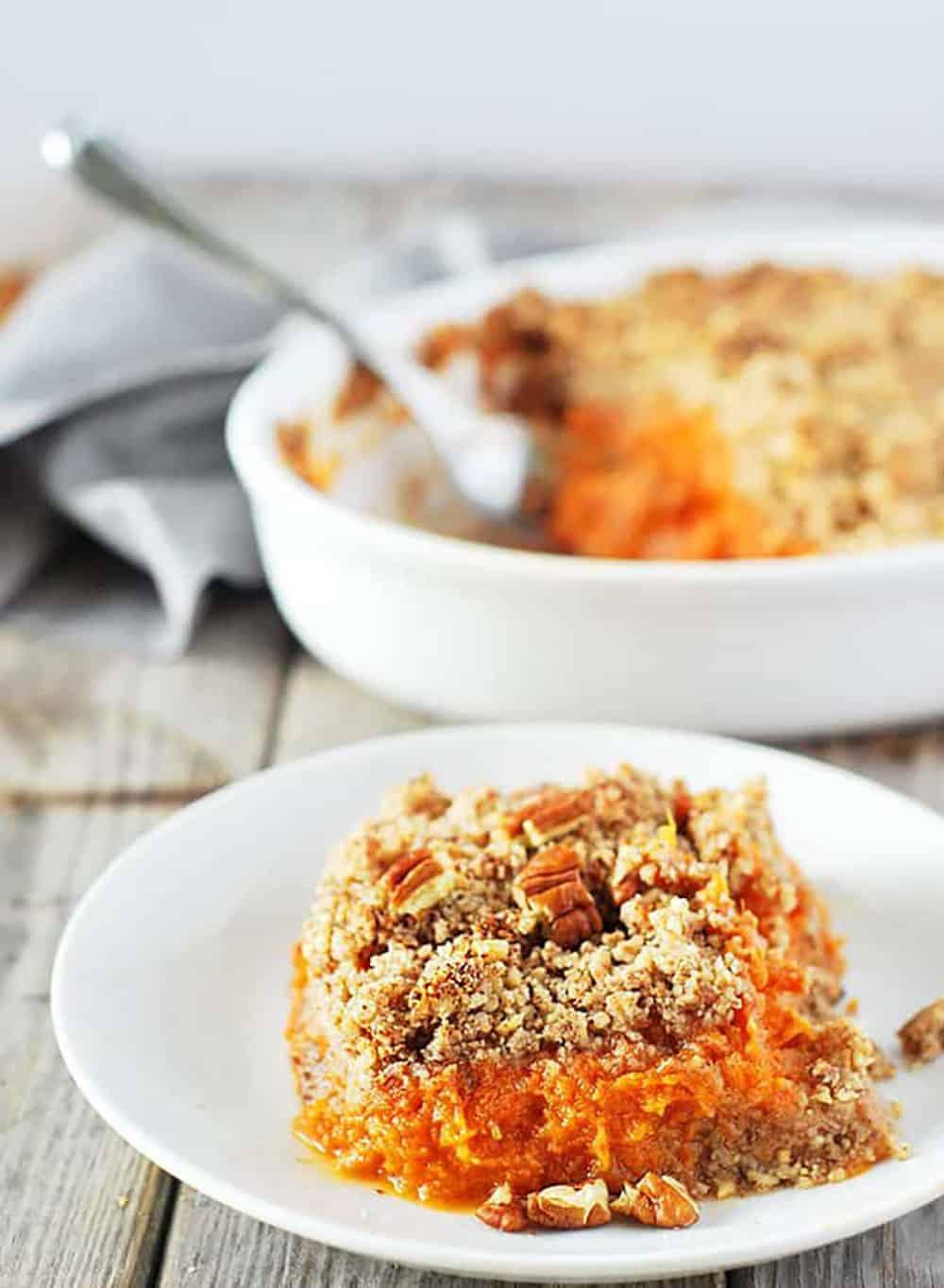 Vegan Sweet Potato Souffle