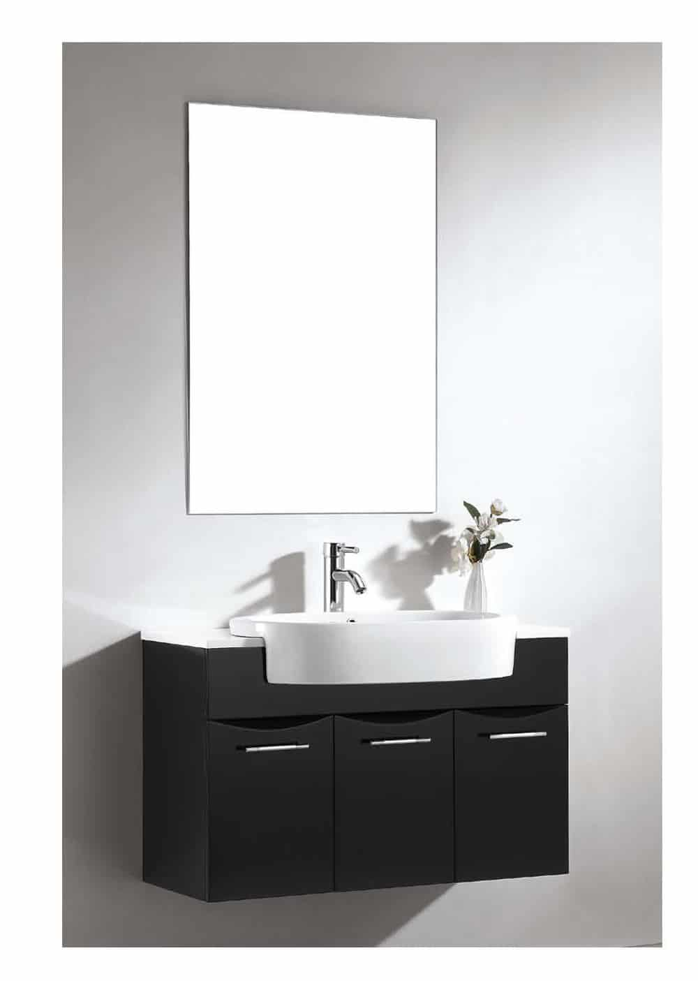 Dawn RET251405-06 Ceramic Lavatory 5-14 Thickness Sink Top with Overflow and Single Hole Faucet Deck