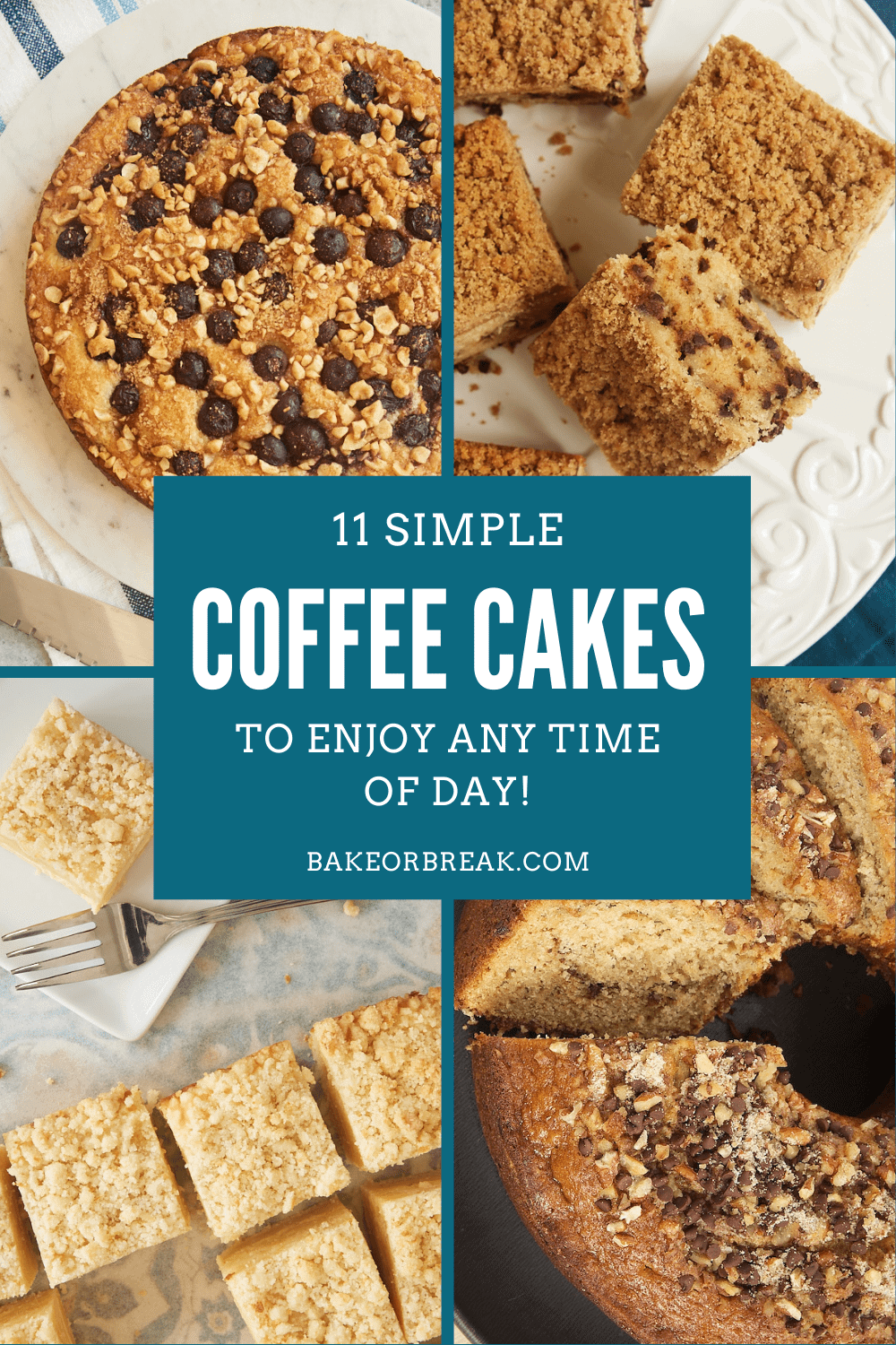11 Simple Coffee Cakes to Enjoy Anytime of Day bakeorbreak.com