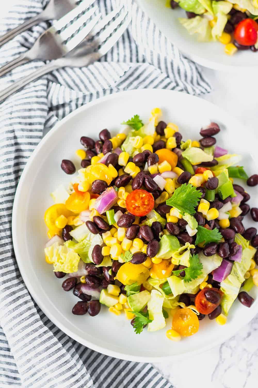 Vegan Southwestern Salad with Avocado Dressing