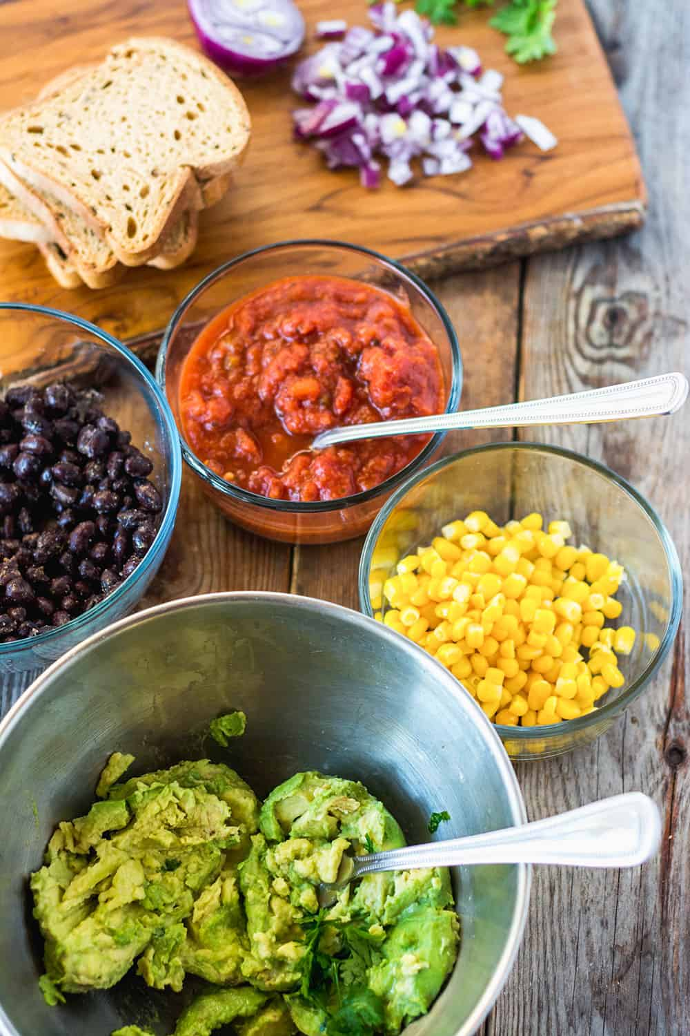 Southwestern Avocado Toast Toppings