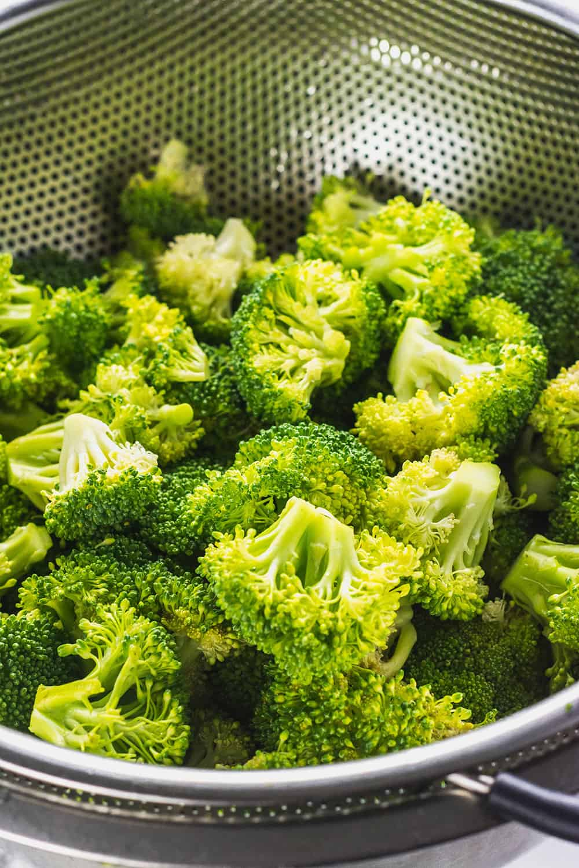 Broccoli Florets For Vegan Broccoli Rice Casserole