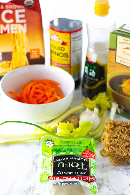 Vegan Gluten-Free Ramen Noodles Ingredients