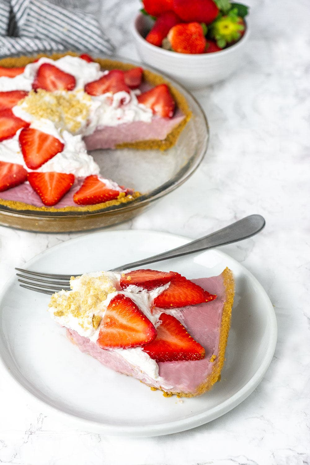 Vegan Strawberry Cream Pie