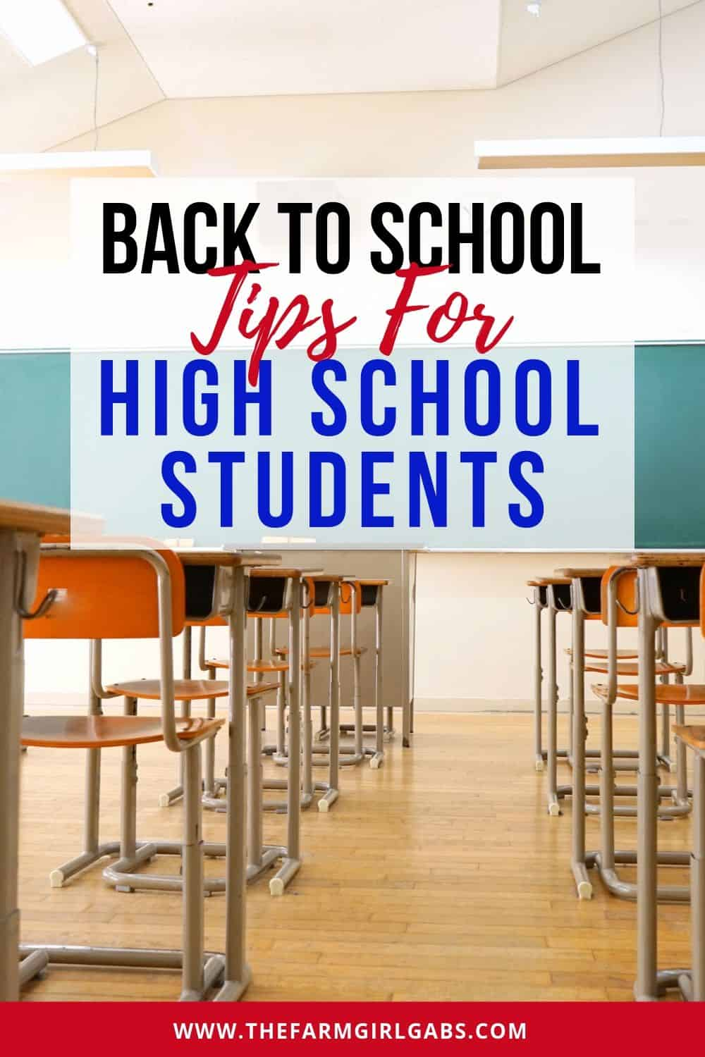 Set your high school student up for success this school year. Follow these Back to School Tips For High School Students. #backtoschool #highschool #teenagers #parentingtips
