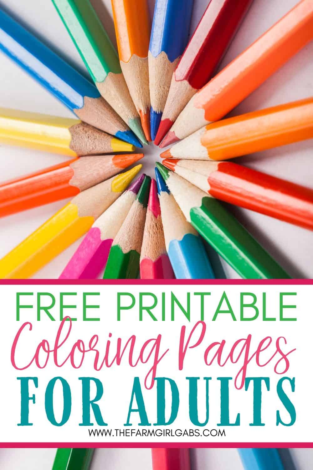 Coloring is not just for kids. Adults need a creative outlet too. Let your creativity soar. Download and print any of these Free Adult Coloring Pages. These free coloring pages for adults will keep you entertained for hours. #adultcoloringpages #coloringpages