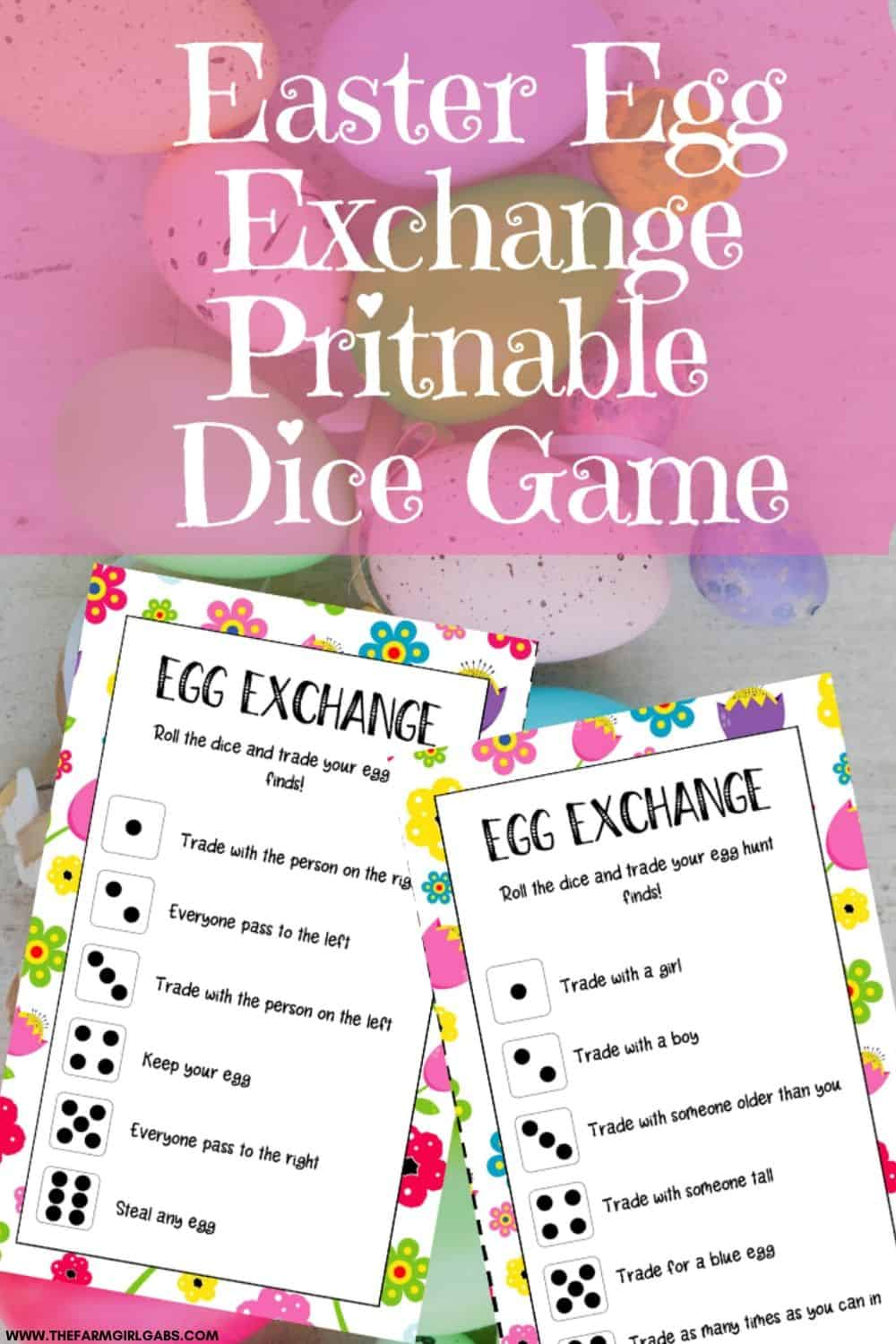 Hop into the Easter holiday with this fun Easter Egg Exchange Game that kids can play. Download and print a copy of these Easter cards.
