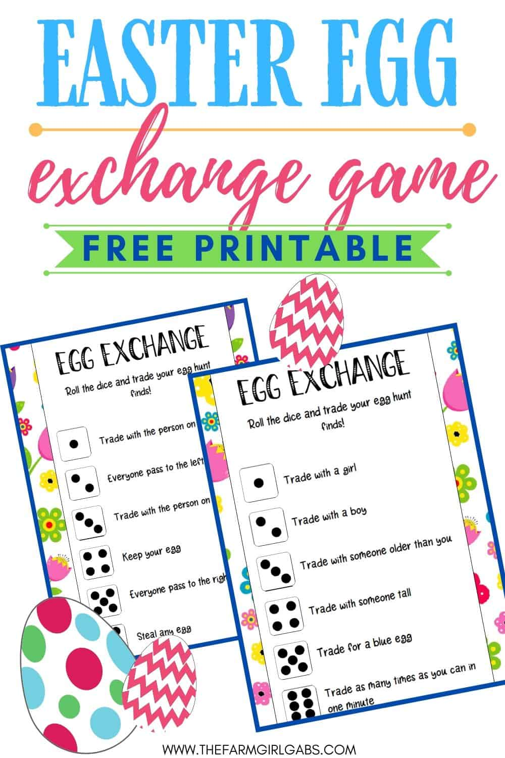 Hop into the Easter holiday with this fun Easter Egg Exchange Game that kids can play. Download and print a copy of these Easter cards. Hop into the Easter holiday with this fun Easter Egg Exchange Game that kids can play. Download and print a copy of these Easter cards. This is fun game for the kids to play after an Easter egg hunt.