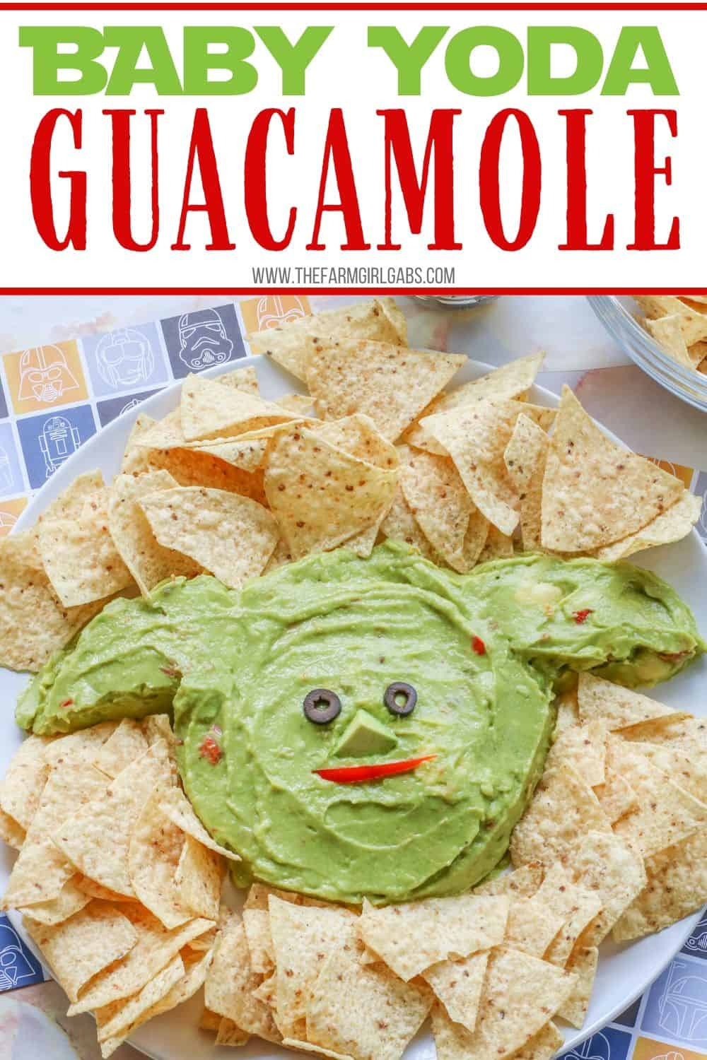 Whether it's Cinco de Mayo or Star Wars day, this Baby Yoda Guacamole Platter is the fun entertaining recipe that Star Wars fans will think is out of this world. Everyone loves an easy guacamole recipe and this one is perfect for the Baby Yoda fans in your life.