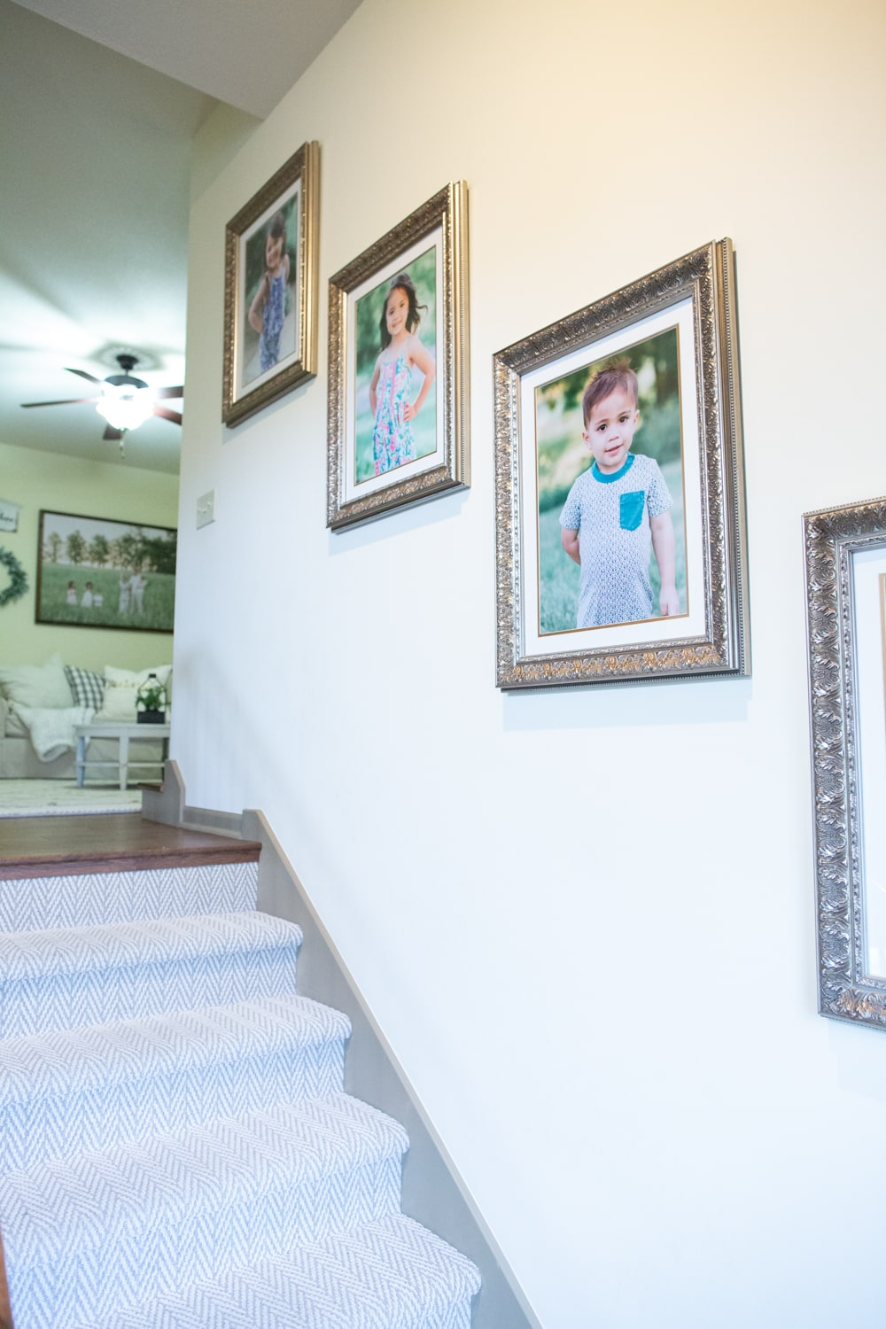 Benjamin Moore Simply Irresistible Cream Paint Color staircase
