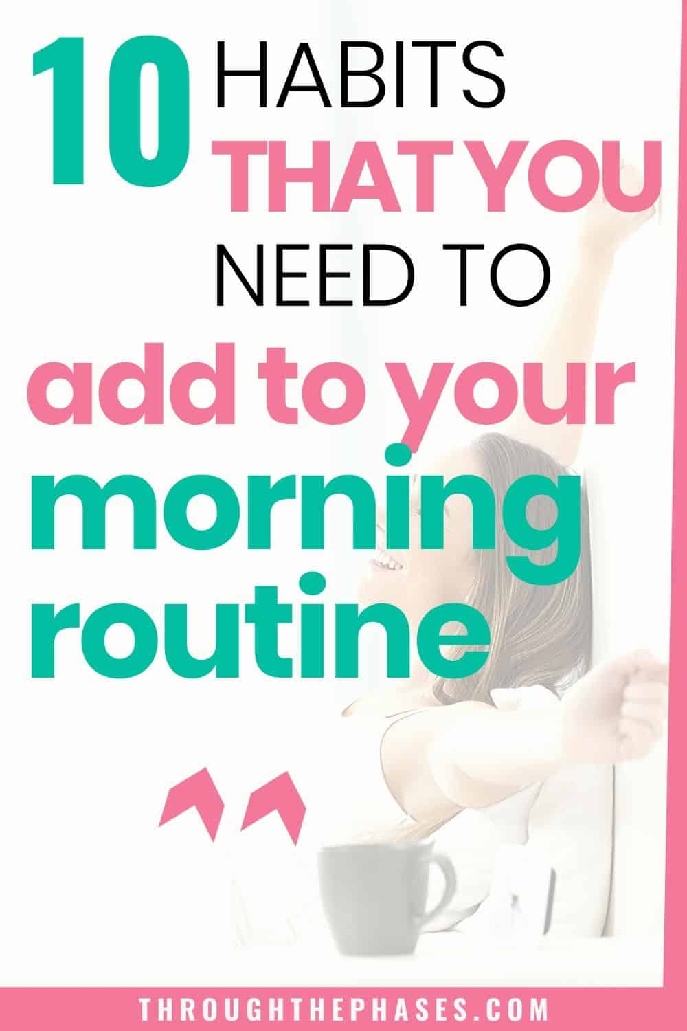 habits for a productive morning routine