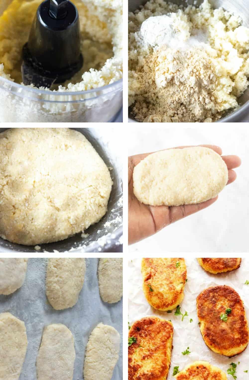 Step by Step cauliflower hashbrowns
