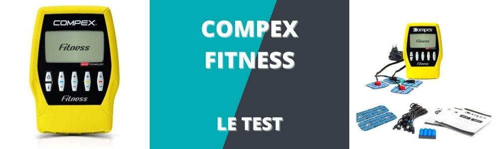 bannière de présentation du test et avis du compex fitness