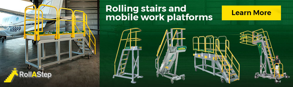Rollastep rolling stairs banner