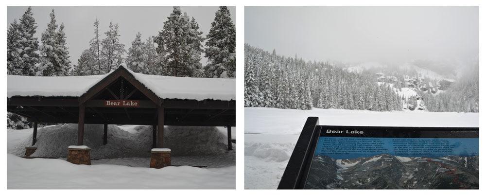 Bear Lake with 2 feet of snow