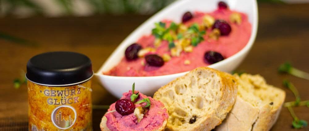 rezept für Cranberry-Walnuss-Hummus