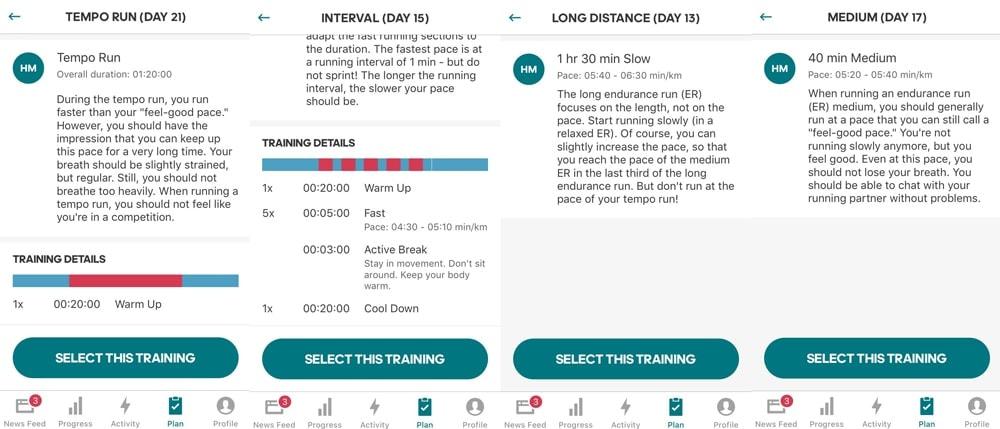 Программа подготовки к полумарафону Adidas Running