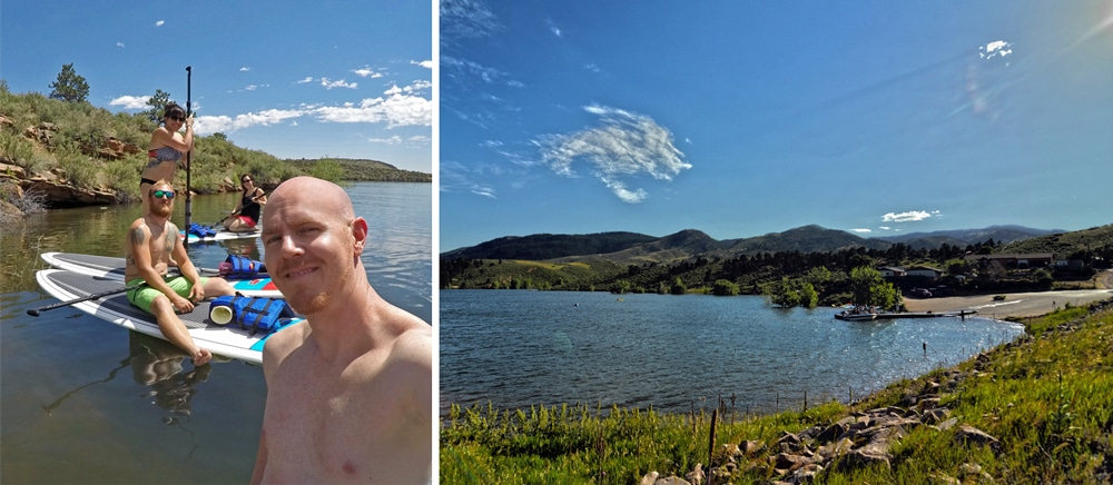 SUP Horsetooth Reservoir Ft.Collins