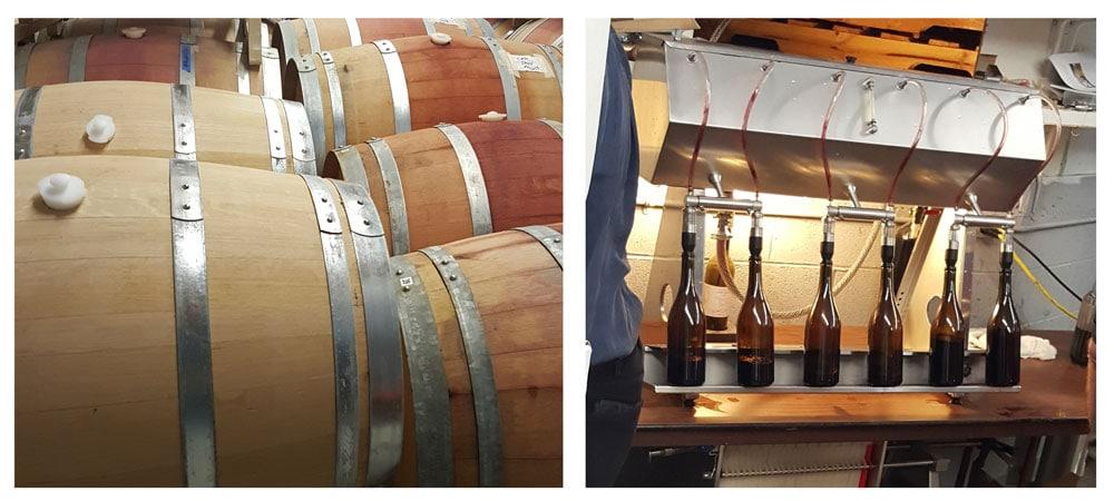 Snowy Peaks wine barrels