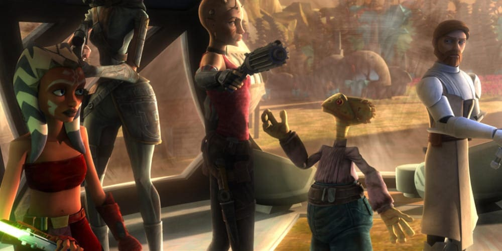 An image from an episode of Clone Wars