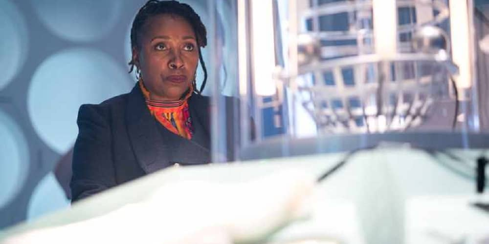 First Black Female Doctor Who Ruth in the TARDIS