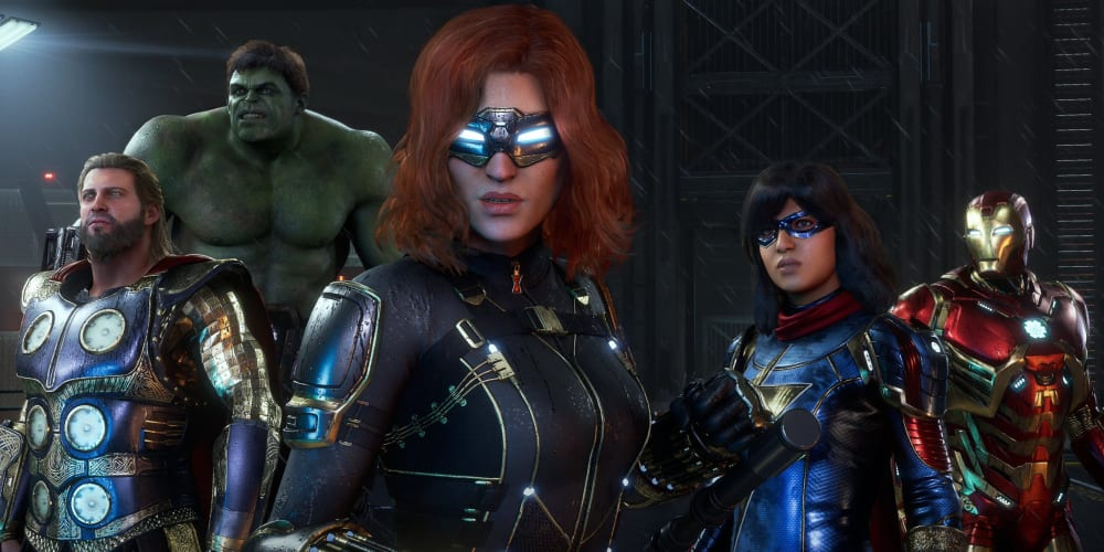 Black Widow, Thor, Iron Man, Hulk, Kamala Khan, Square Enix, Video Games, Spider-Man, PlayStation 4