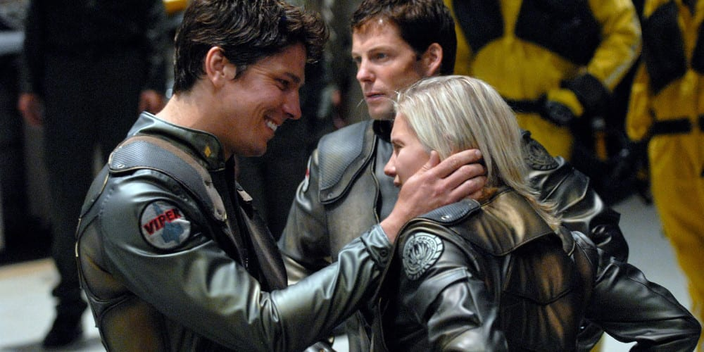 Battlestar Galactica movie reboot couple.