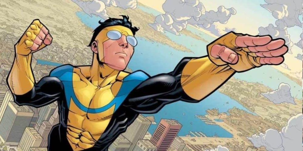 Invincible animated series teaser trailer book.