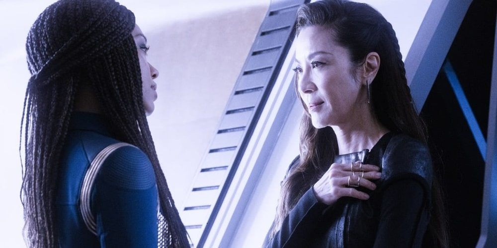 "Star Trek Discovery Scavengers"" — Ep#306 — Pictured: Sonequa Martin-Green as Burnham and Michelle Yeoh as Georgiou of the CBS All Access series STAR TREK: DISCOVERY"