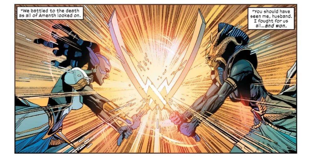 X-Men #14: X of Swords Chapter Twelve, Jonathan Hickman, Excalibur, Powers of X, House of X, Arakko, Okkara, Krakoa, Apocalypse, Genesis, Annihilation, Amenth, Mutants, Krakoa Laws, Arakko Laws