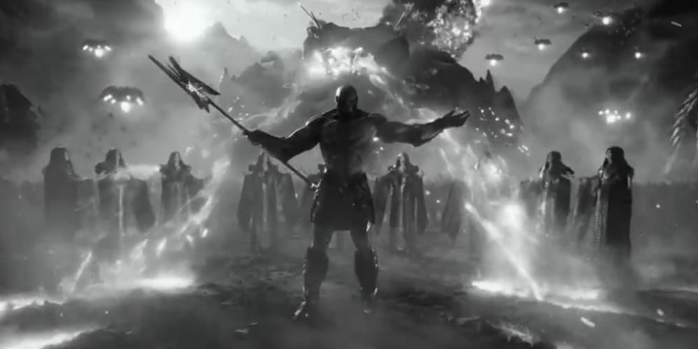 Justice League black and white trailer Darkseid.