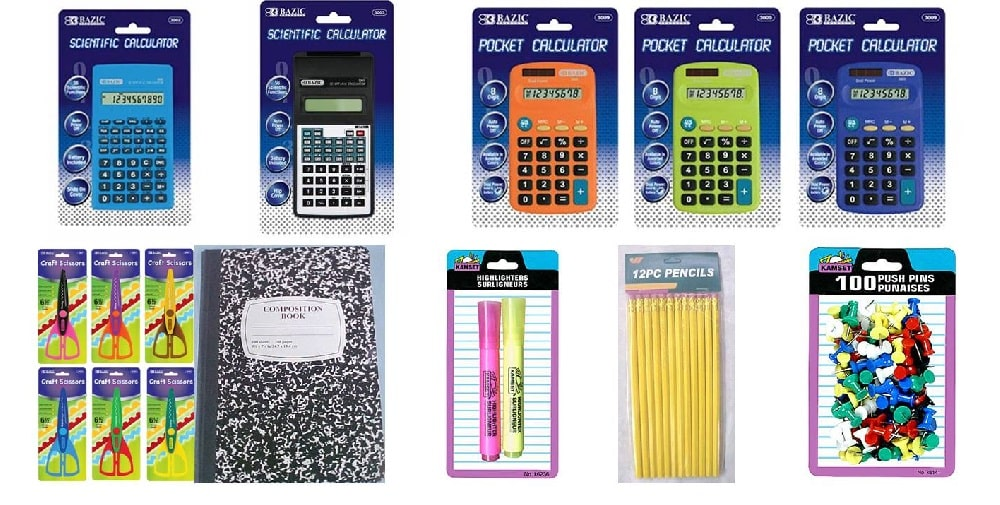 Wholesale back to school items