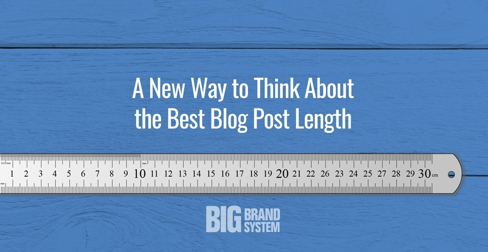A new way to think about the best blog post length