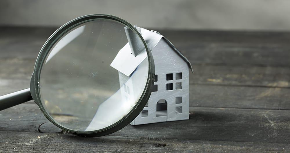 Magnifying class on a condominium