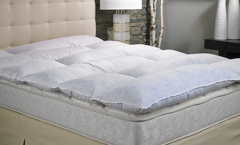 a featherbed featuring baffled box construction