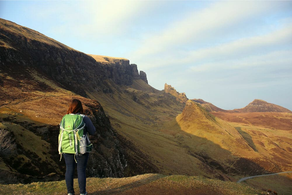 Golden hour on Quiraing - Isle of Skye