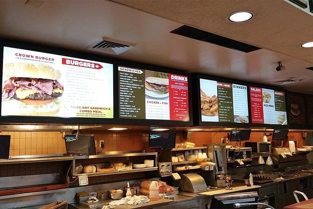Stream Menu Board - Crown Burgers