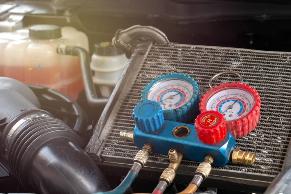 Learn about the different refrigerant types used in air conditioners in cars and trucks from the auto pros at BlueDevil Products
