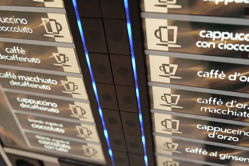 Kaffeevollautomat mit großer Auswahl