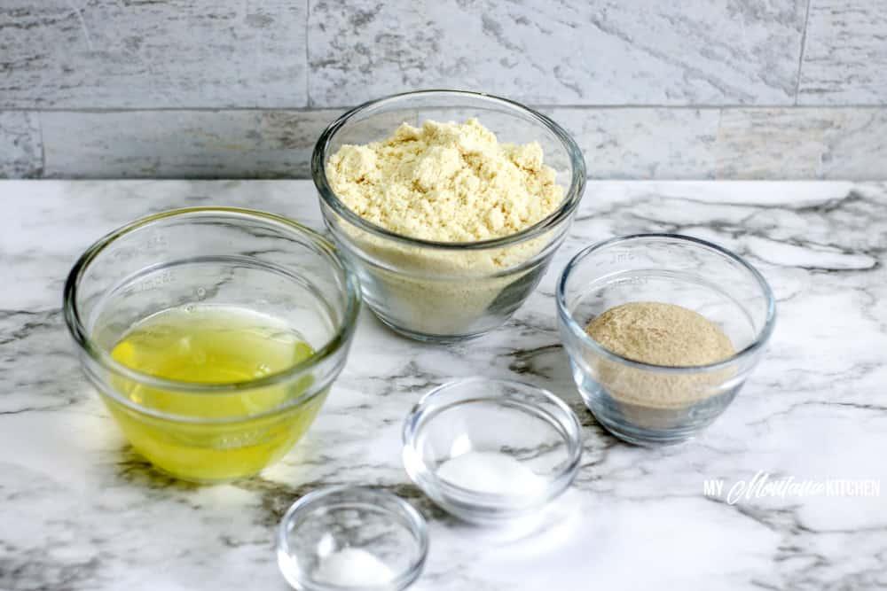Image of homemade keto tortillas ingredients