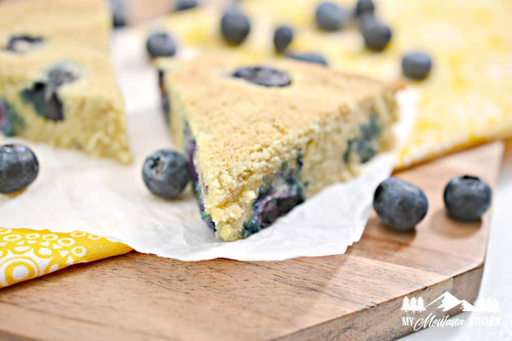 keto blueberry lemon scones