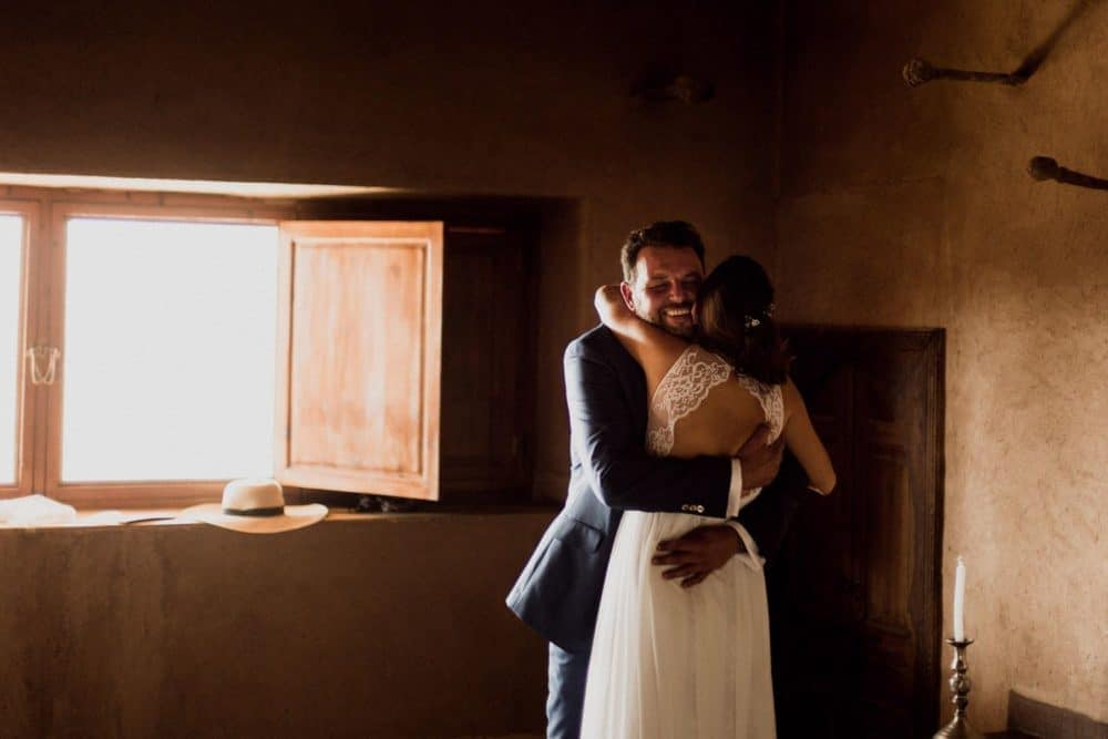 decouverte des mariés dans leur intimité