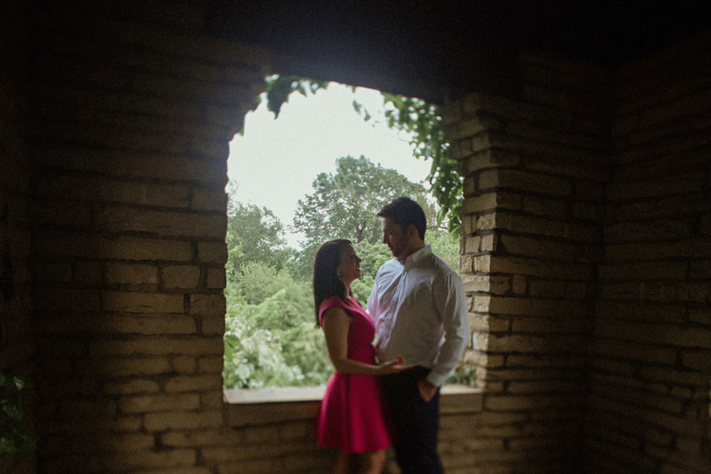 silhouette engagement photo in portsmouth ohio