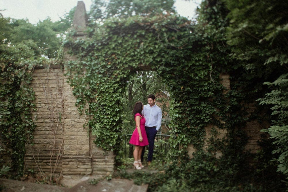 ivy wall engagement photo